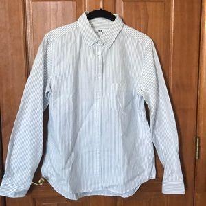 Uniqlo women oxford long sleeve shirt.